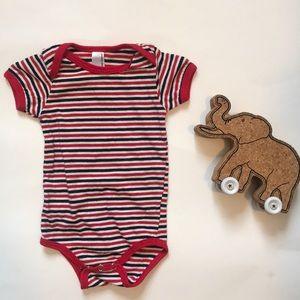 American Apparel stripe baby onesie 0-3 months EUC